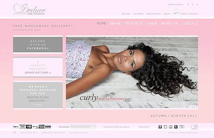 Creative WebVision - Seduce Hair Extensions